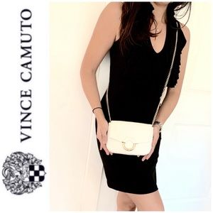 NWT Vince Camuto genuine leather crossbody clutch
